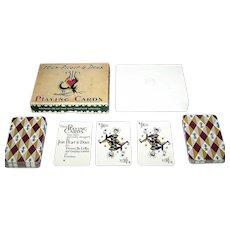 "Double Deck De La Rue ""125th Anniversary"" Canasta Playing Cards, Jean Picart le Doux Designs, c.1957"