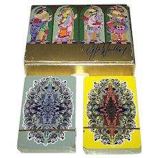 """Double Deck Piatnik """"Bjorn Wiinblad"""" Playing Cards, Bjorn Wiinblad Designs, c.1976"""