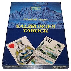 "Piatnik ""Salzburger Tarock"" No. 2899 Tarock Cards w/ Elisabeth Mayer Book, c.1985"