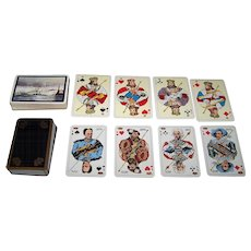 2 Decks Obergs Swedish Playing Cards, $20/ea.: (i) Maritime Deck w/ Standard Swedish Pattern Courts, c. 1959; and (ii) Royal Deck w/ Vasa Pattern Courts, c.1980s