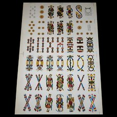 """Viassone """"Bolognese"""" Uncut Sheet Playing Cards, c.1930-1950"""