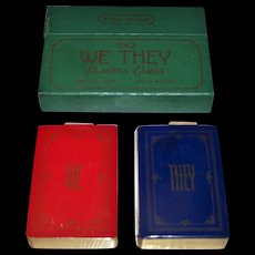 """Double Deck USPC """"We-They"""" Playing Cards, c.1929"""