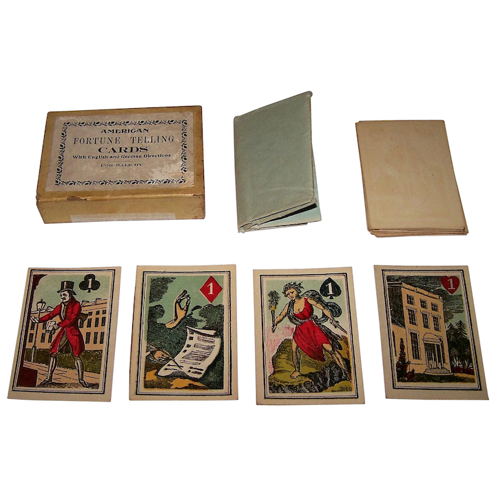 "Turner & Fisher ""American Fortune Telling Cards,"" Full Color Illustrations,  c 1830s (?)"