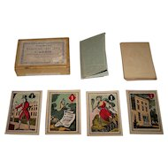 """Turner & Fisher """"American Fortune Telling Cards,"""" Full Color Illustrations, c.1830s (?)"""