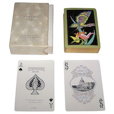 """Congress 606 """"Papillon"""" Playing Cards, Art Deco Design (Backs), c.1929"""