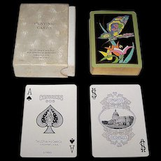 "Congress 606 ""Papillon"" Playing Cards, Art Deco Design (Backs), c.1929"