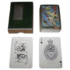 "De la Rue (Pneumatic) ""Angel Fish"" Playing Cards, Art Deco Design (Backs), c.1930"