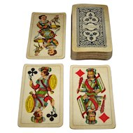 "Hungary Playing Card Factory and Printing House (""Jatekkartyagvar  es Nyomba"") ""Szerencse Fel!"" (""Industrie und Gluck"") Tarock Cards, c.1950s"