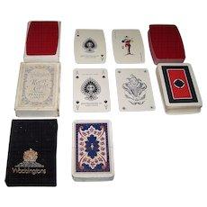 "3 Decks Waddingtons Playing Cards, $10/ea.: (i) ""Barrel"" Deck, c.1960s; (ii) ""Monte Carlo"" Deck, c.1940; and (iii) ASS Deck, c. 1970s"