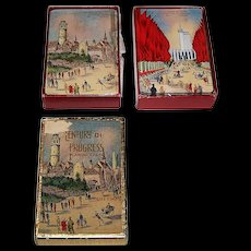 """2 Decks Arrco """"Century of Progress"""" Playing Cards, '33-'34 Chicago World's Fair, $25/ea.: (i) """"Belgian Village""""; and (ii) """"Avenue of Flags,"""" c.1934"""