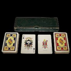 """Double Deck NYCC """"Deluxe No. 142"""" Playing Cards, c.1925"""
