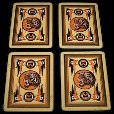 "4 Singles USPC Congress 606 ""Princeton University"" Playing Cards, College Series, c.1901-1919, $10/ea."