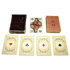 """Dondorf No. 150 """"Mittelalter"""" (""""Middle Ages"""") Playing Cards, Hamilton, Hills & Co. """"Unique,"""" c.1889-1905"""