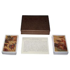 "Double Deck China ""Romance of the Three Kingdoms"" Playing Cards, Maker Unknown"