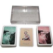 "Double Deck ASS ""Islensk l'Hombre Spil No.1"" aka ""Mugg's Cards,"" Bjarni P. Magnusson Publisher, Gudmundur Thorstensson Designs, c.1977"