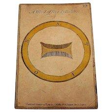 "Single Card, John Wallis Hand Colored ""Riddle"" No. 12, c.1789"