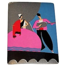 "Arrow Playing Card Co. ""Guitar Serenade"" Playing Cards, Art Deco Design (backs), c.1930"