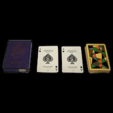 USPC Congress 606 Pinochle Playing Cards, Art Deco Design (backs), c.1929