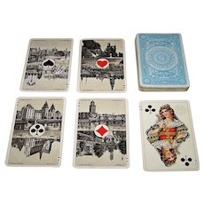 "Speelkaartenfabriek Nederland ""Neerlandia B"" Playing Cards, Dutch Scenic Aces, c.1916"