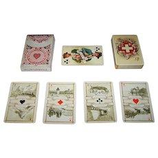 """Dondorf """"Schweitzer Trachten"""" (""""Swiss Costumes"""") Playing Cards, Dondorf No. 174, c. 1900"""
