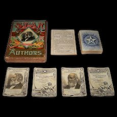 "McLoughlin Bros. ""The Improved Game of Star Authors"" Card Game, c.1888"