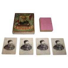 "McLoughlin Bros. ""Game of Illustrated Authors"" Card Game, c.1890"