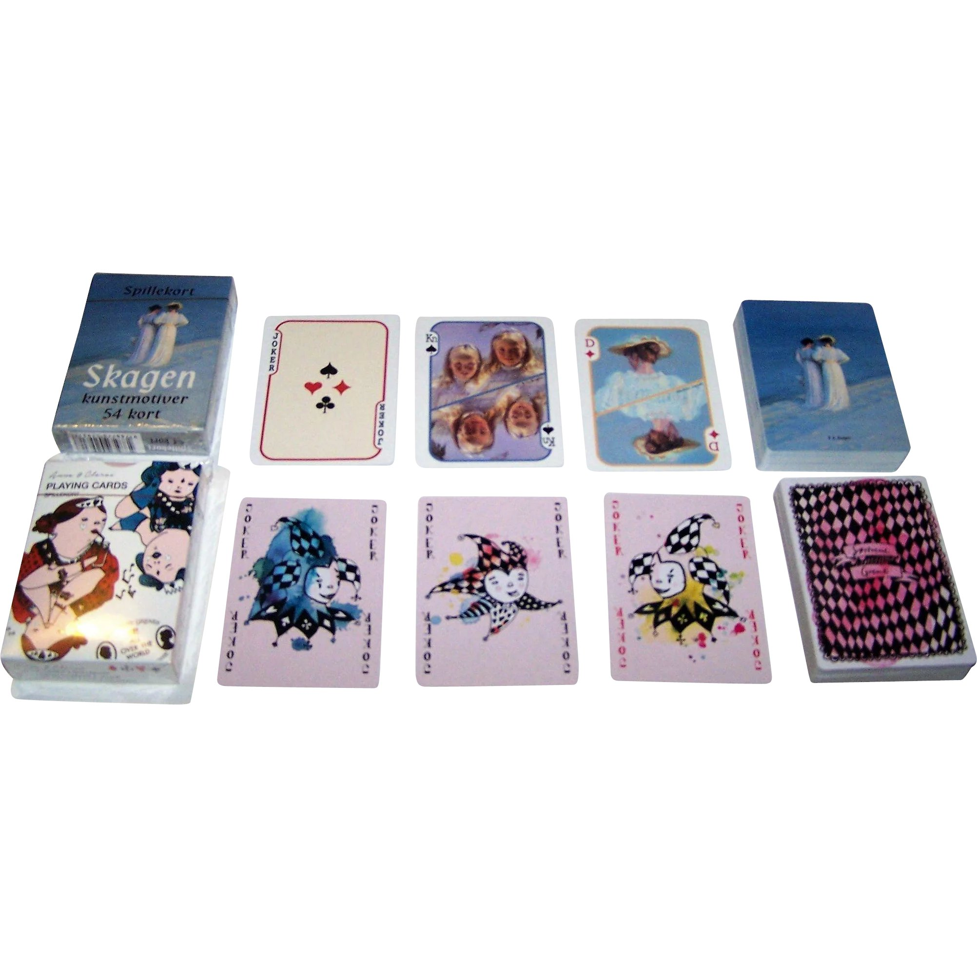 8621469a0ff 2 Non-Standard Decks Denmark Playing Cards, $15/ea.: (i) Lamberth : Two For  His Heels | Ruby Lane