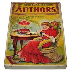 "J. Ottmann Litho. Co. ""Authors"" Card Game, St. Nicholas Series, c.1900"