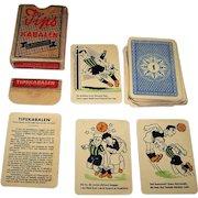"Handa ""Tips Kabalen"" Card Game, Danish Football (Soccer) Pools, c.1950s"