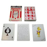 """Kennedy Kards"" Playing Cards by Humor House, Inc., c.1963"