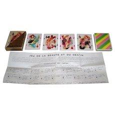 """Grimaud """"Playtex"""" Fortune Telling Cards, """"Le Jeu de la Beauté et du Destin"""" (""""The Game of Beauty and Destiny""""), James Hodges Designs, c.1971"""