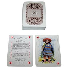 """La Milano """"Il Caffè"""" Playing Cards, I Maestri Dell'Arte Series No. 10, Ltd. Ed. ___/3500, 1988"""