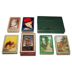 "6 Decks Jokerless USPC Congress 606 Playing Cards (52/52, NJ), $10/ea.: ""Tabby"" (No Box); ""Rita"" (No Box); ""Desert"" (No Box); ""The Search""; ""The Garden""; ""Forest Road"""
