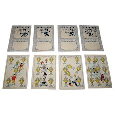 """Graficas Valencia S.L. """"Cine Manual / Patente 34,141"""" Playing Cards (Chocolate Cards), Art Deco Style, Artist Unknown, Animated """"Flick Book"""" Backs (""""Periquito – Felix the Cat""""), c.1927"""