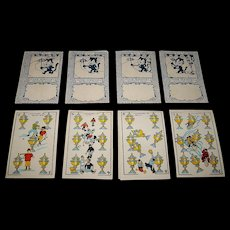 "Graficas Valencia S.L. ""Cine Manual / Patente 34,141"" Playing Cards (Chocolate Cards), Art Deco Style, Artist Unknown, Animated ""Flick Book"" Backs (""Periquito – Felix the Cat""), c.1927"