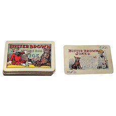 """USPC """"Buster Brown"""" Patience Playing Cards, Buster Brown Comic Strip, Richard Outcault Creation, c.1906"""