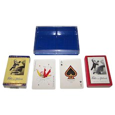 """Double Deck Brown & Bigelow """"Veloz and Yolanda"""" Playing Cards, c.1950"""