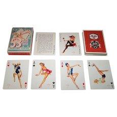 """Brown & Bigelow (Redi-Slip) """"Vargas Vanities"""" (aka """"53 Vargas Girls""""  ) Pin-Up Playing Cards, Alberto Vargas Designs, c.1953"""
