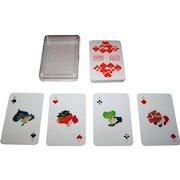 """ASS """"Overstolz"""" Skat Playing Cards, Jan Buchholz and Leni Hinsch Designs, c.1975"""