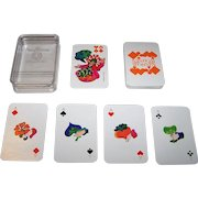 """ASS """"Schoener Wohnen"""" Skat Playing Cards, Jan Buchholz and Leni Hinsch Designs, c.1969"""