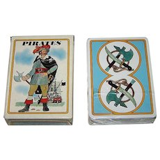 "Grimaud ""Pirates"" (""Pirates et Corsaires"") Playing Cards, Jean Bruneau Designs, c.1984"