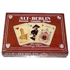"""Double Deck ASS """"Historic Berlin"""" (""""Alt Berlin"""") Playing Cards, c.1975 $30"""