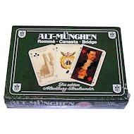 """Double Deck ASS """"Historic Munich"""" (""""Alt Muenghen"""") Playing Cards, c.1978"""