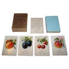 "Dondorf No. 342 ""Fruits et Legumes"" Quartet Card Game, c.1920"