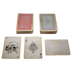 """Double Deck Nintendo """"Imitation National Playing Card Company"""" Playing Cards, c.1930"""