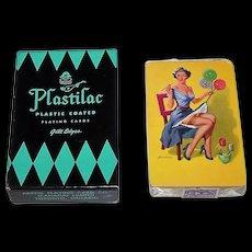 "Arrco ""Plastilac"" Pin-Up Playing Cards, Edward D'Ancona Design (Back), c.1947"