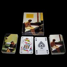 """Double Deck Carta Mundi (Flammarion 4) """"Edward Hopper"""" Playing Cards, [""""Hotel Room"""" (detail) and """"Compartment C""""], c.1994"""