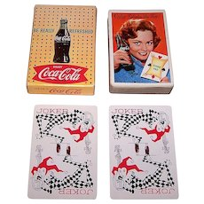 "Brown & Bigelow ""Coca Cola"" Glamour Playing Cards, Coca Cola Advertising, c.1961 (Girl w/ Score Pad)"