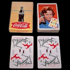 """Brown & Bigelow """"Coca Cola"""" Glamour Playing Cards, Coca Cola Advertising, c.1961 (Girl w/ Score Pad)"""