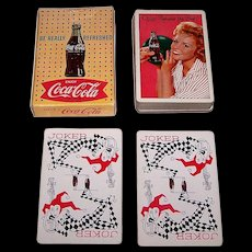 """Brown & Bigelow """"Coca Cola"""" Glamour Playing Cards, Coca Cola Advertising, c.1961 (Girl w/ Bowling Ball)"""